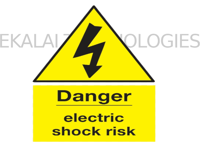 Electric Shock Warning Sign